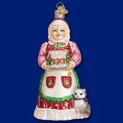 Old World Christmas Mrs Claus Gingerbread House Glass Ornament FREE BOX 10220