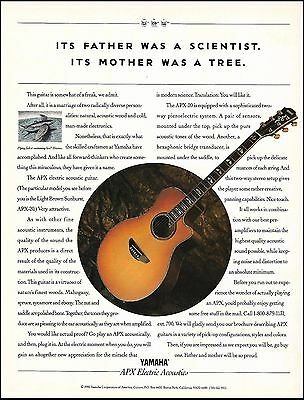 The 1992 Yamaha APX-20 Electric Acoustic Guitar ad 8 x 11 advertisement print