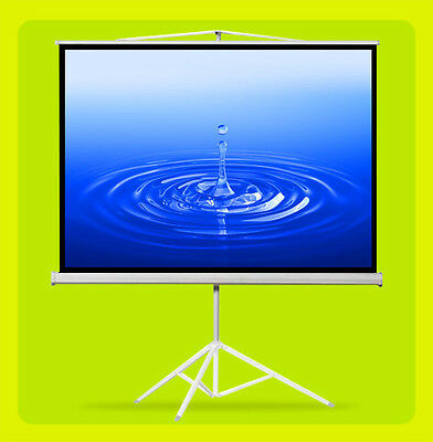 """(PICKUP ONLY) 100"""" Tripod Projection Screen 4:3 Pull-up Matte Projector Stand"""
