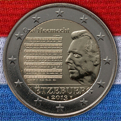 Commemorative Coin Luxembourg National Anthem 2013 Uncirculated - Bu St