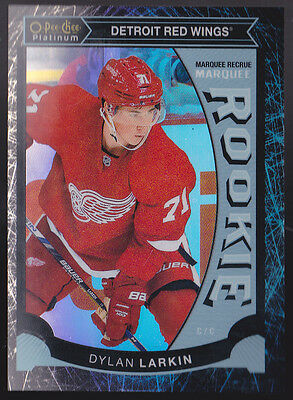 15-16 OPC Platinum Dylan Larkin /99 Rookie Black Ice OPeeChee Red Wings 2015