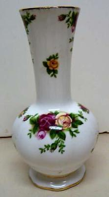 "Royal Albert -Old Country Roses-Vase-Sz-6""-Excellent"