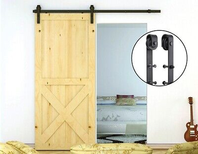 1.8m Sliding Barn Door Hardware Steel Rustic Interior Closet Doors Black Antique