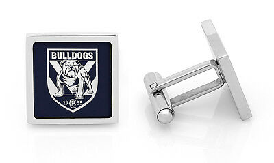 Canterbury Bulldogs NRL Cuff Links Stainless Steel Etched Fathers Christmas Gift