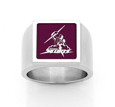 Melbourne Storm NRL RING Stainless Steel Etched Fathers Day Christmas Gift