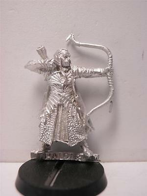 Lord of the Rings miniature Elf Captain Haldir MINT metal figure LOTR HOBBIT OOP
