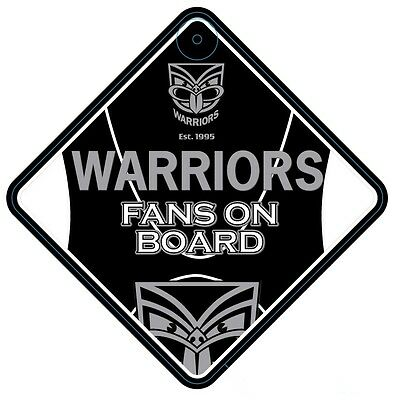 New Zealand Warriors NRL Team Supporters Car Sign * Fans on Board