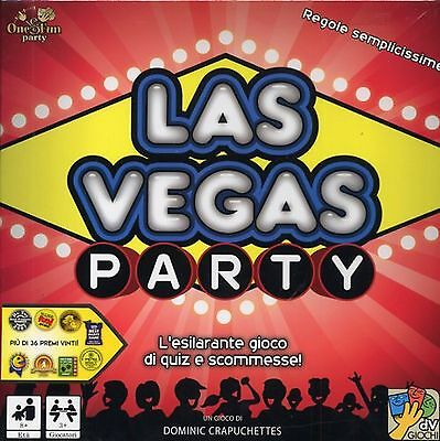 LAS VEGAS PARTY Gioco da Tavolo in Italiano Da Vinci scommesse fiches party game