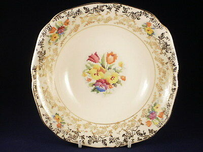 H&k Tunstall Petit Point Floral Sweet Bowl