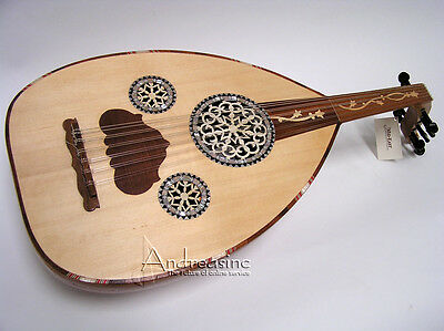 NEW AUTHENTIC HAND MADE EGYPTIAN DELUXE OUD w/ SOFT CASE - MINOR BLEMISHED