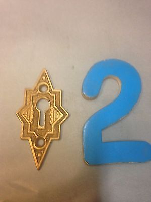 Vintage Brass Ornate Key Hole Escutcheon Plate Part 2