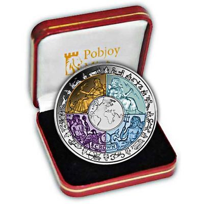 Isle of Man 2008  Year of Planet Earth Proof Silver and Titanium Coin