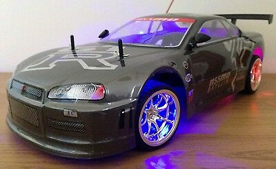NISSAN GTR SKYLINE RECHARGEABLE Radio Remote Control Car  20MPH - GREY