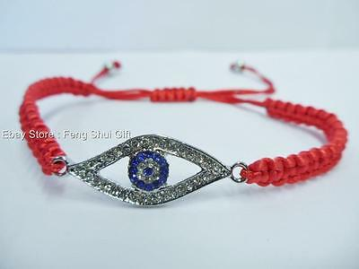 RED Feng Shui Jewelry Evil Eye Bead Protection Lucky Adjustable Bracelet