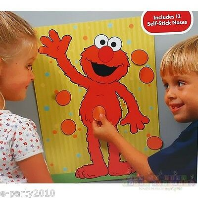SESAME STREET ELMO PARTY GAME POSTER ~ Birthday PARTY Supplies Decorations