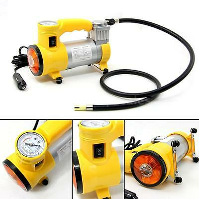 Yellow Car Portable Electric Air Compressor Tire Inflator Pump 12V 150 PSI O8L6