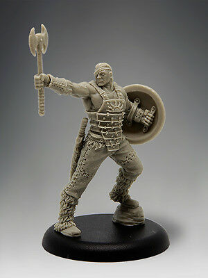 BARBARIAN CHAMPION WITH OPTIONS 35mm Scale RESIN Black Sun Miniatures