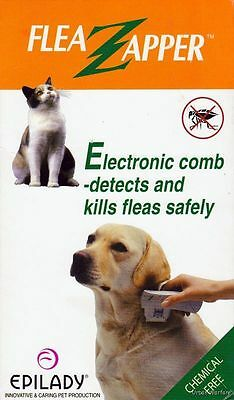 Epilady FLEA ZAPPER Electronic Comb Detects & Kills Fleas Safe No Chemicals Pets