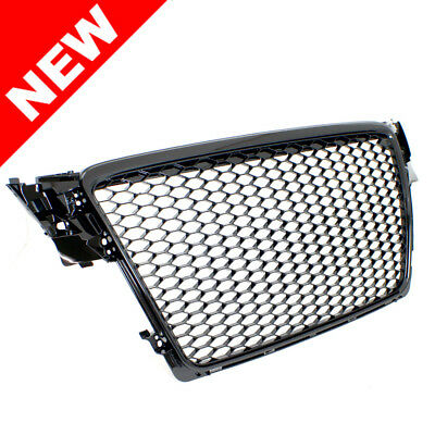 09-12 Audi A4/s4 B8 Rs4 Style Main Upper Euro Mesh Grille - Gloss Black
