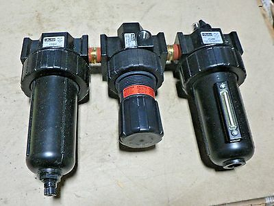 Parker 07A33A18A4BD Close Nippled Three Piece Filter/Regulator/Lubricator, 1/2""