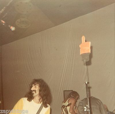 Rare Vintage 1970's Frank Zappa PRIVATE Never Seen Performance Photo (1 Of 5)