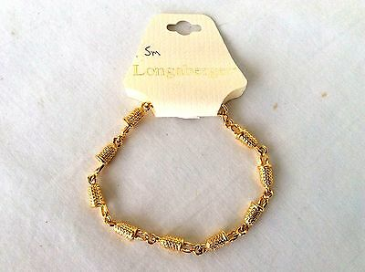Longaberger Charm Bracelet with Baskets gold plated New