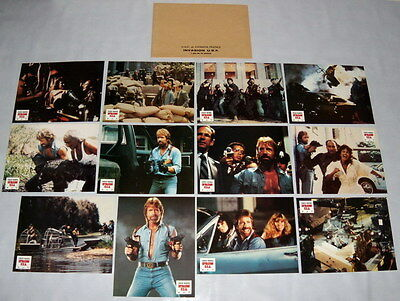 iNVASiON U.S.A Chuck Norris Terrorism Action 1980s 12 FRENCH LOBBY CARDs