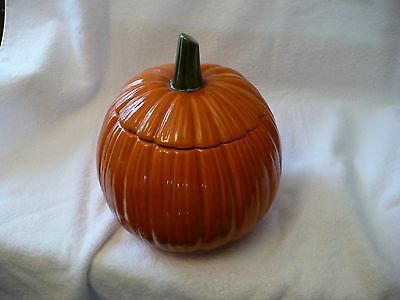 Wb- Vintage Pumpkin Halloween Cookie Jar   #49920
