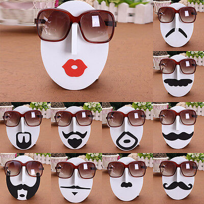13 Styles Mustache Face Glasses Sunglasses Spectacles Display Stand Rack