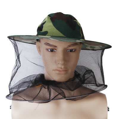 Mosquito Bug Bee Insect Repellent Mesh Net Hat Cap Head Face Neck Protector