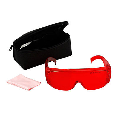 Brand 200-560nm Laser Eyes Protective Goggle Glasses Red with Glasses Cloth HK