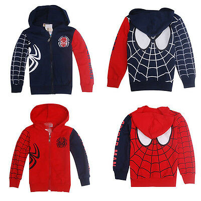 Baby Boys Spiderman Sweatshirt Hoodies Jacket Coat Outerwear Clothes Hoodie Tops