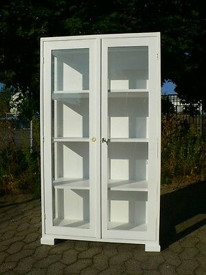 antike vitrine schrank wei shabby chic eur 425 00 picclick de. Black Bedroom Furniture Sets. Home Design Ideas