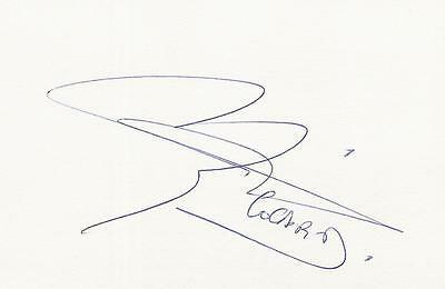 A 14 cm x 9 cm white card. Personally signed by footballer Christophe Cocard.