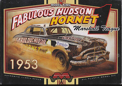 1953 Marshall Teague Hudson Hornet #1  1/25th Plastic Model Kit NIB #1206