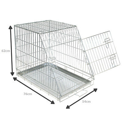 Charles Bentley Dog Cage Metal Slanted Front Car Medium H62Xw76Xd54  Slope Tray