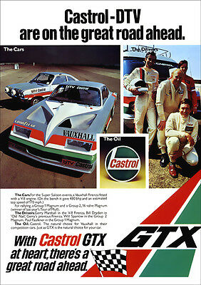 VAUXHALL FIRENZA V8 BABY BERTHA & MAGNUM RETRO A3 POSTER PRINT FROM 70's ADVERT