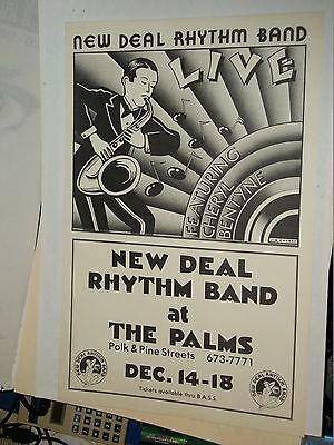 New Deal Rhythm Band Cheryl Bentyne Show Promo  Poster The Palms San Francisco