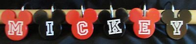 New Mickey Mouse Red And Black Ear Shaped Shower Curtain Hooks