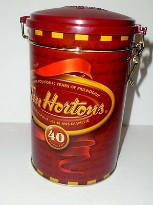 Tim Horton's Collectible Coffee Tin 40th Anniversary Brand New