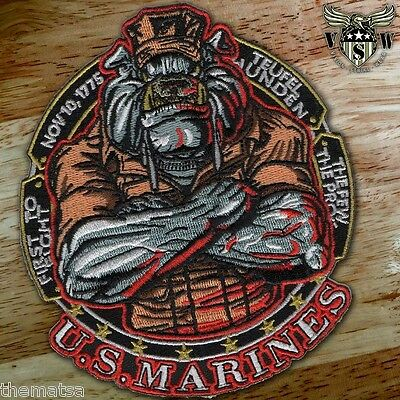"Marine Corps Bulldog First To Fight Military 5"" Embroidered Patch"