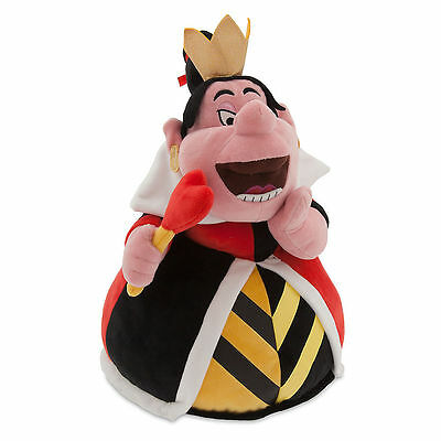 """Disney Authentic Patch Queen of Hearts Toy Doll Plush 14"""" Alice in Wonderland"""