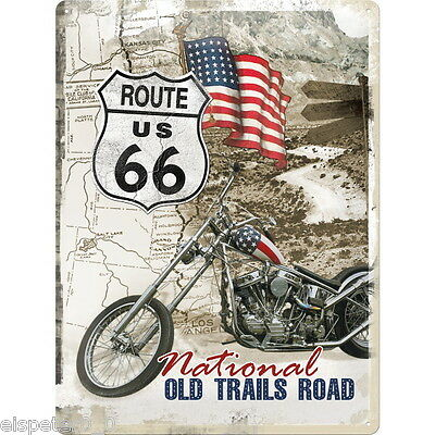 Tin Sign 30 x 40, Route 66 Old Trails Road, Advertising Sign Art. 23136
