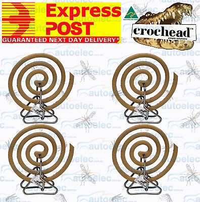 EXPRESS POST 4x CROCHEAD MOSQUITO MOZZIE BUG FLY INSECT REPELLENT COIL HOLDERS