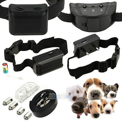 Anti Bark No Barking Tone Shock Control Training Collar Small Medium Large Dog