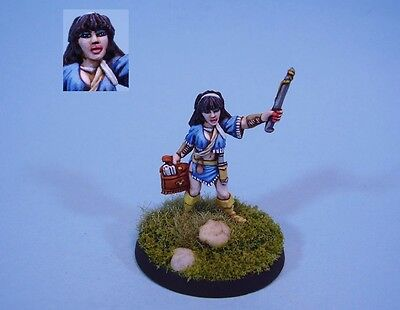 Ral Partha  painted miniature cute female Sorceress (30 day listing)