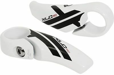 XLC Pro Alloy Bar Ends Bike Handlebar Barends White 85mm White