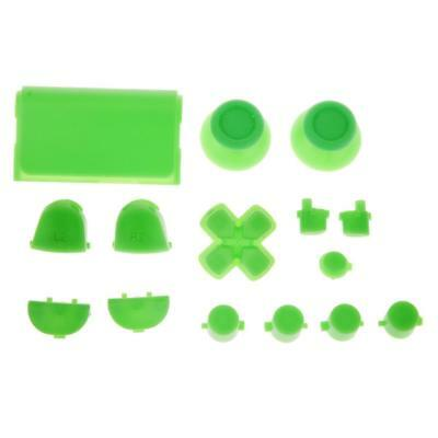 Green Bullet Button Thumbstick D-pad L R Mod For PS4 Playstation Controller