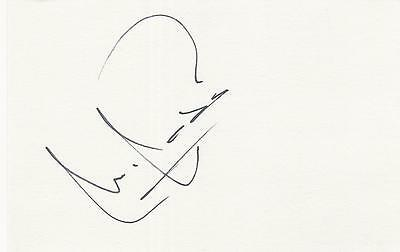 A 14 cm x 9 cm white card. Personally signed by footballer Miguel Ángel Nadal.