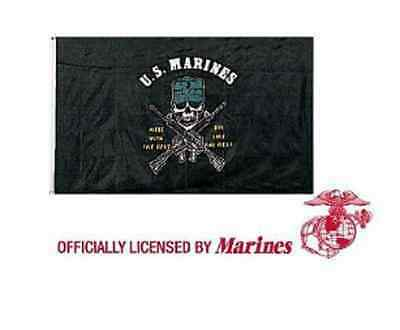 US Marines USMC Corps USN FLAG Fahne Flagge MESS WITH THE BEST DIE LIKE THE REST